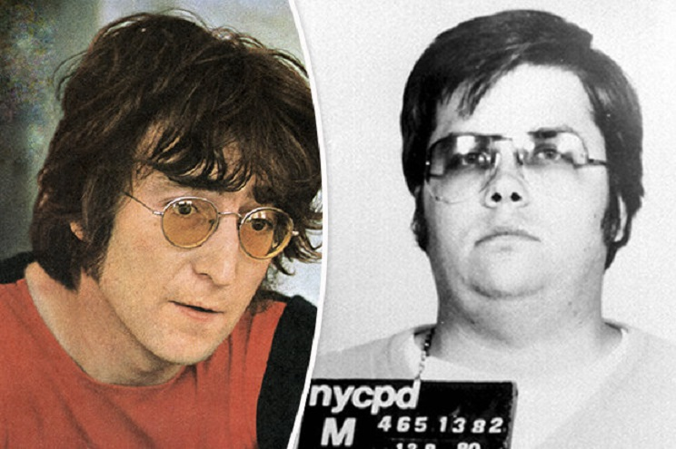 John Lennon and Mark Chapman