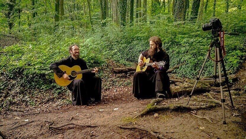 Serbian monks playing Iron Maiden