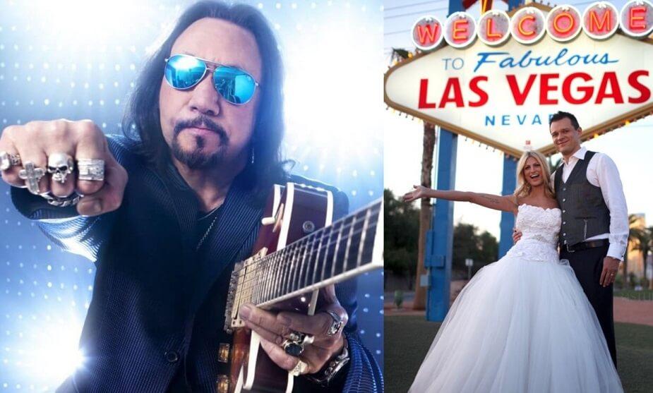 Ace Frehley Las Vegas wedding