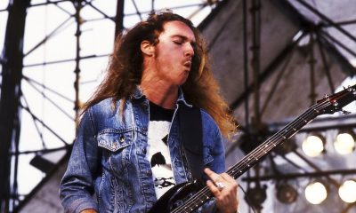 Cliff Burton playing bass