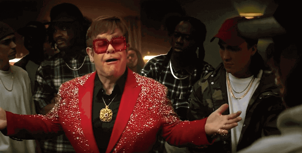 Elton John Snickers commercial