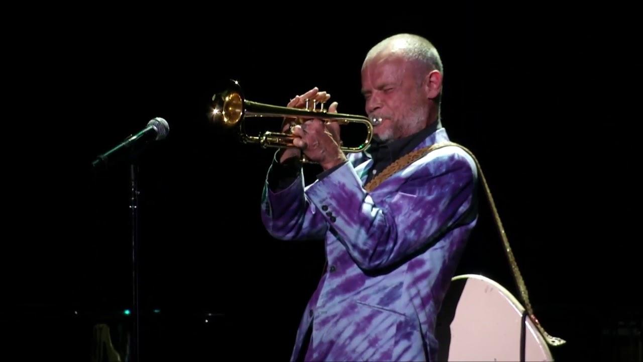 Flea playing Trumpet