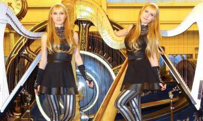Harp Twins playing Iron Man