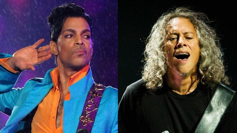 Prince and Kirk Hammett