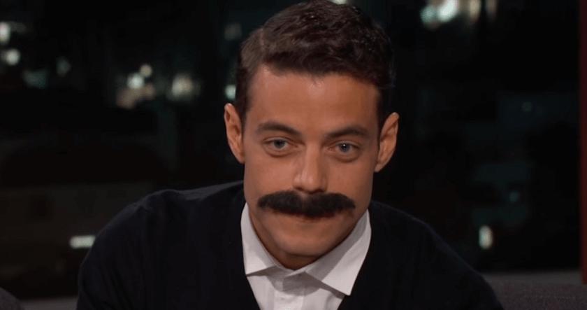 Rami Malek mustache