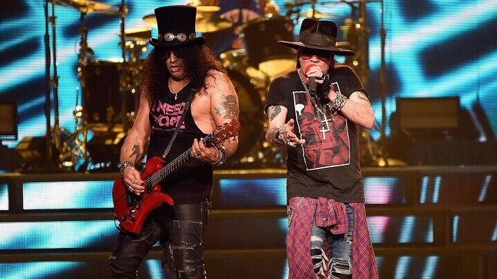 Slash and Axl Rose