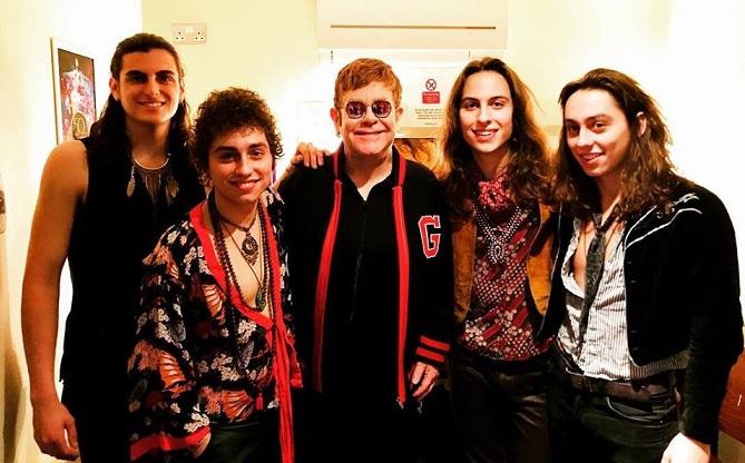 Greta Van Fleet and Elton John