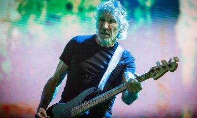 Roger Waters playing bass