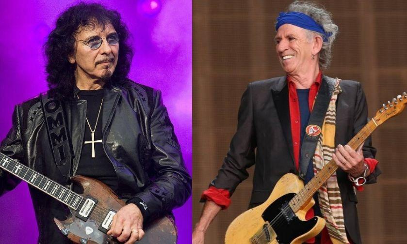 Tony Iommi and Keith Richards