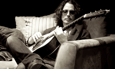 Chris Cornell playing guitar