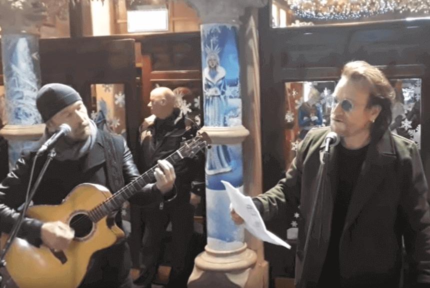 The Edge Bono Vox Christmas
