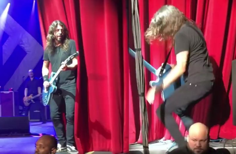 Dave Grohl falling