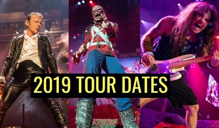 Iron Maiden tour dates 2019