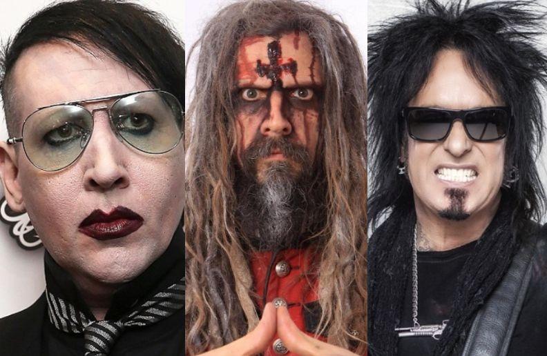 Marylin Manson Rob Zombie Nikki SIxx
