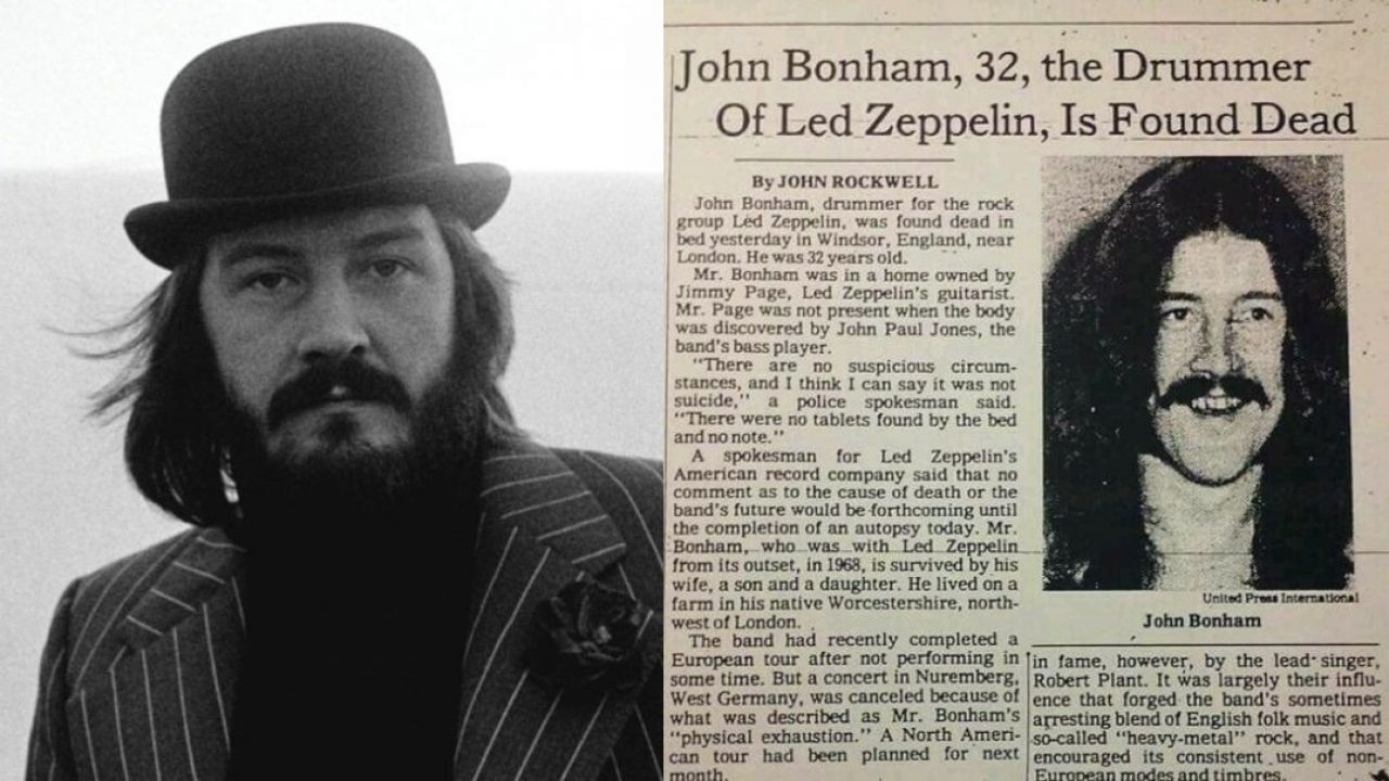 The tragic story of John Bonham death