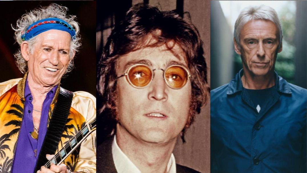 Keith richards John Lennon Paul Weller