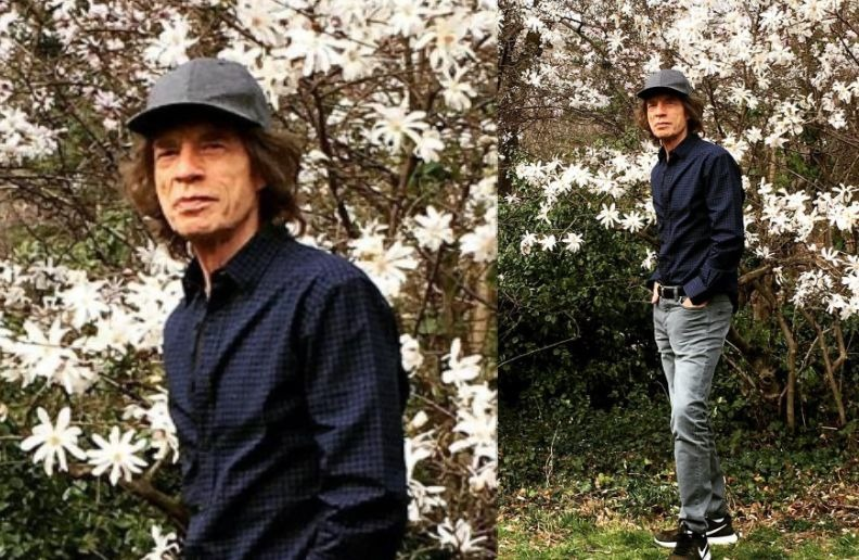 Mick Jagger walk in the park