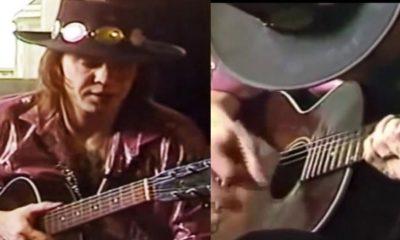 Stevie Ray Vaughan acoustic guitar