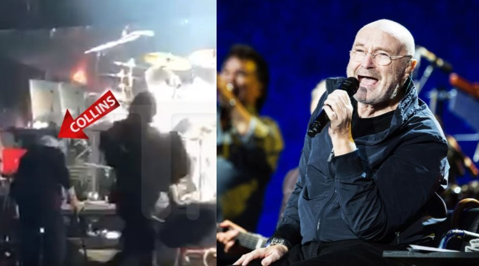 Phill Collins falling on stage