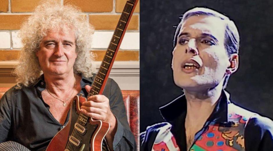 Brian May Freddie Mercury