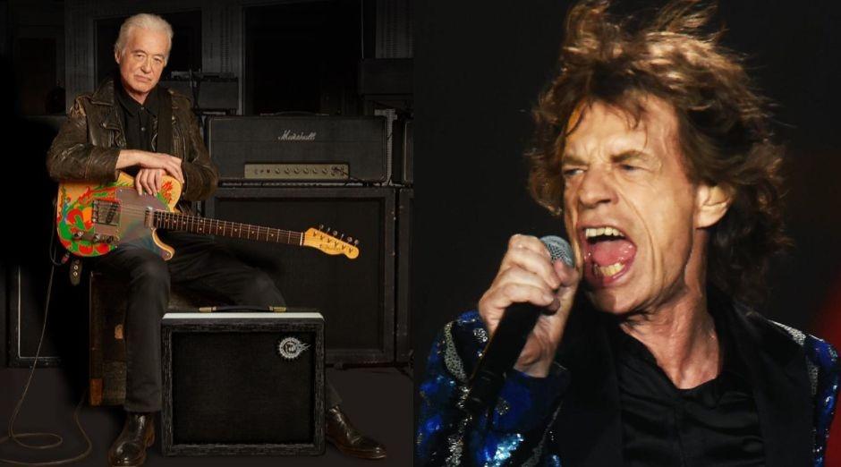 Jimmy Page Mick Jagger