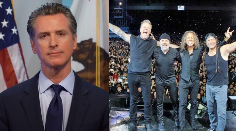 California governor concerts