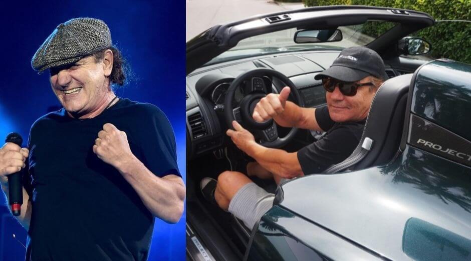 Brian Johnson driving