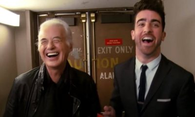 Jimmy Page laughing